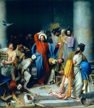 Carl Heinrich Bloch - Casting out the Money Changers