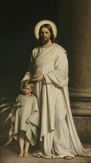 Carl Heinrich Bloch - Christ and a Boy