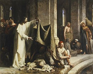 Carl Heinrich Bloch - Christ Healing by the Well of Bethesda