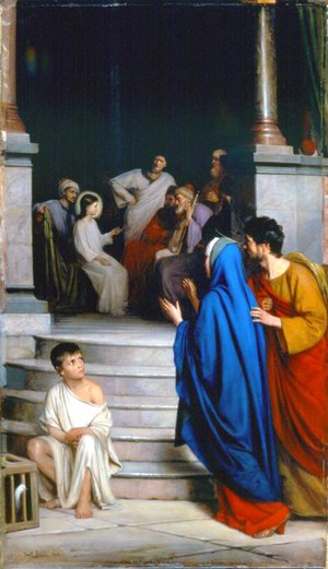 Carl Heinrich Bloch - Christ Teaching at the Temple