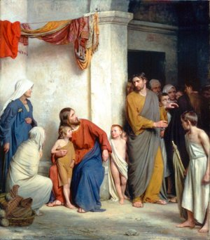 Carl Heinrich Bloch - Christ with Children