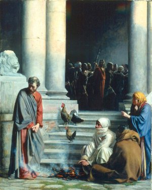 Carl Heinrich Bloch - Peter's Betrayal