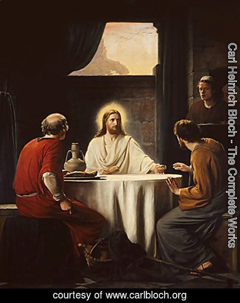 Carl Heinrich Bloch - Supper at Emmaus