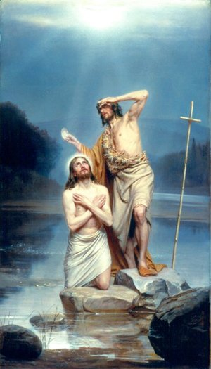 Carl Heinrich Bloch - The Baptism of Christ