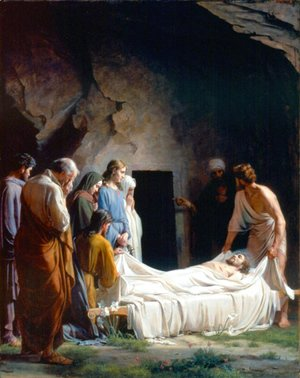 Carl Heinrich Bloch - The Burial of Christ