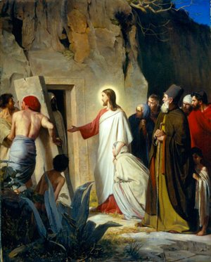 Carl Heinrich Bloch - The Raising of Lazarus