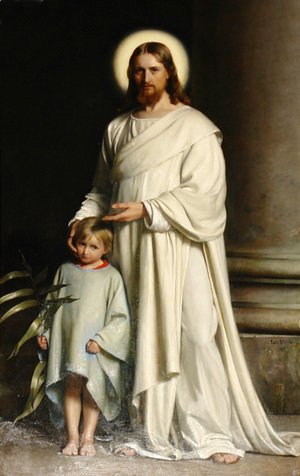 Carl Heinrich Bloch - Christ and Child