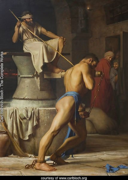 Samson and the Philistines (Samson in the Threadmill)